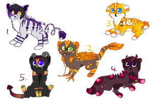 Creature-adoptables ALL CLOSED! by MissLayira