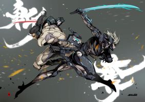 Raiden VS Sam by the-hary
