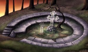 forest grave by Sigyn85