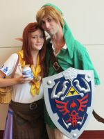 Link and Malon by scoldingspirit84