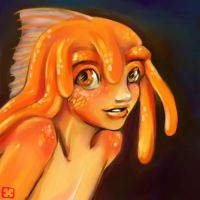 Goldie fishie dishie boy by StressedJenny