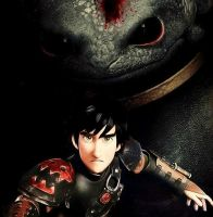 Evil! Hiccup and Toothless by IAmZBEST