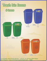 TrashBin Icons by mimipunk