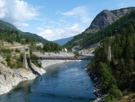 Brilliant Suspension Bridge British Columbia by historicbridges