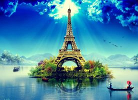 Eiffel Nature Wallpaper by SottoPK