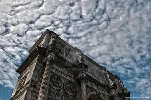 Arch Of Constantine, Rome by Stument