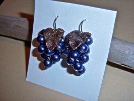 Glass Grape Earrings by KimNichole