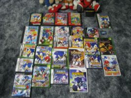 My Own Sonic Game Collection by BlackBlueDawg