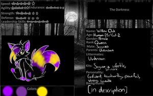 Willow Oak Reference - Queen of Darkness by MagixSP