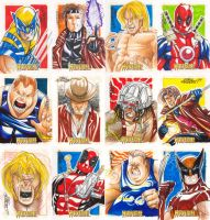 Wolvie Sketchcards - part 1 by MarcFerreira