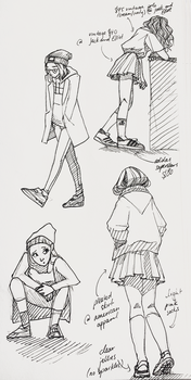 Fashion Sketches by petit-raclette