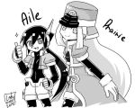 -Aile and Prairie- Manga style by Lady2011