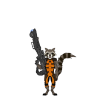 Rocket Raccoon - Guardians of the Galaxy by Carcharocles