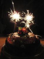 ME: Bonfire Night Cake by BeanieBat