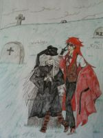 Undertaker and Grell by AmbiCrow