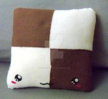 Checkerboard Cookie Plush Pillow by moonphiredesign