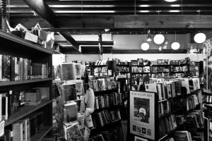 Bookstore black and white by EaGle1337