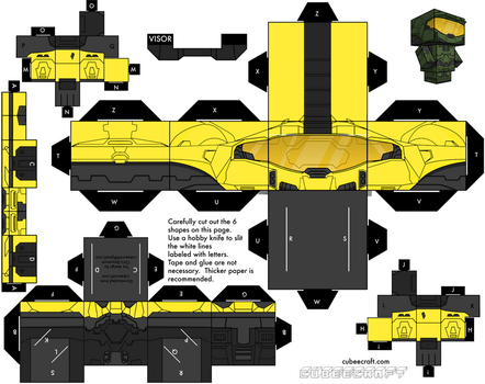 Yellow and black Master Chief by dominicclay123