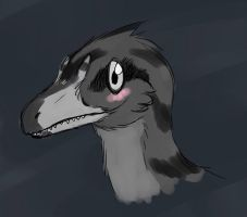 Tiny theropod by Spikeheila