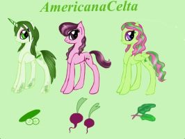 Vegetable garden hatched egg adoptables (closed) by AmericanaCelta
