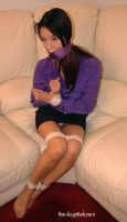 secretary girl tied up and gagged in sofa by jude12345