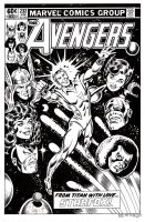 Avengers 232 Cover Recreation by dalgoda7