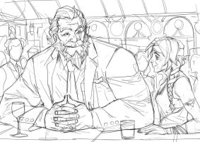 Sketch - Ana and Reinhardt 2 by Nesskain