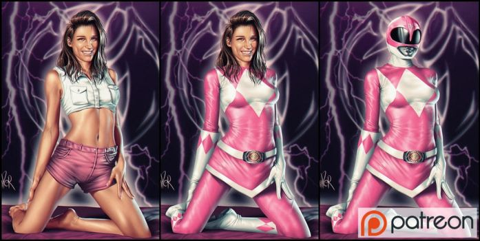 Power Rangers - Pink Ranger - Kimperly 3 Versions by ViiPerArt
