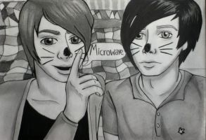 Dan and Phil Microwave by RavenDANIELS