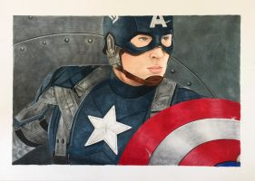 Captain America Marvel  by theartgearguide