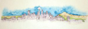 Seattle Skyline by carye1
