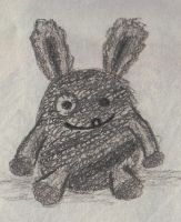 knitted rabbit by DomdomHaas