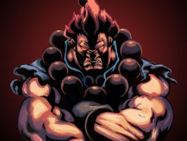 Akuma - Street Fighter by Cinna-B0nB0n-luv