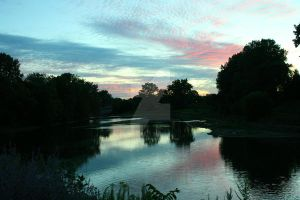 August Sunset at the Forks by x-NOthiNG-x