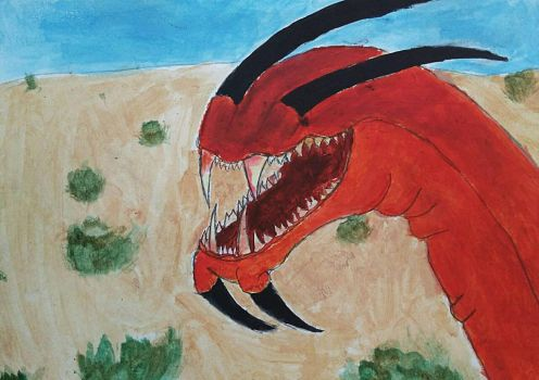 Old Graboid Tongue painting by BlahBlahToucan