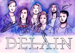 Delain (signed by the band) by forest-of-fire