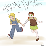 Adventure is Out There by Bombfishe