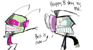 Happy 1 Year B-day to Me by Invader--ZIM