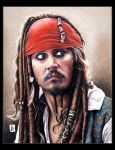 Johnny Depp, Jack Sparrow by louissollune