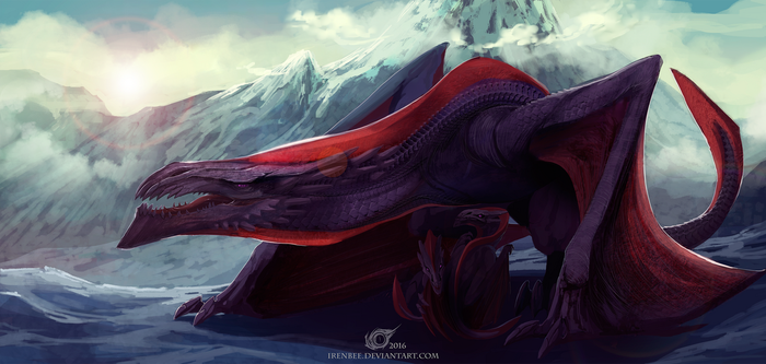 The Snow Dragon by IrenBee