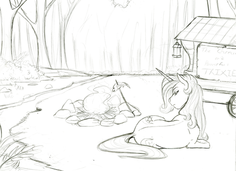 Lonely Contemplation- WIP by Earthsong9405