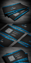 Professional Corporate Business Card by FlowPixel