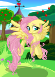 Fluttershy Loves the Nature:::... by PauuhAnthoTheCat