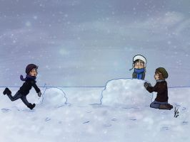 Let's build a snowman by yuminica