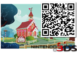 Ponyville Schoolhouse 3D - MPO for the 3DS by tamalesyatole