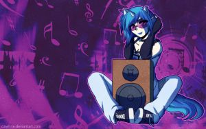 .:MLP VinylScratch Wallpaper:. by Dawnrie