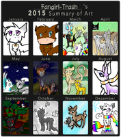 Summary of Art - 2015 by Fangirl-Trash