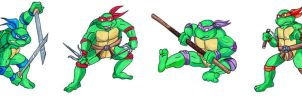 Ninja Turtles 1987 by Dark-Crescent-Moon