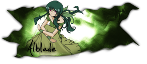 Green Hair signage by Alblade