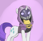 Rarity's Mass Effect Cosplay by poptart36